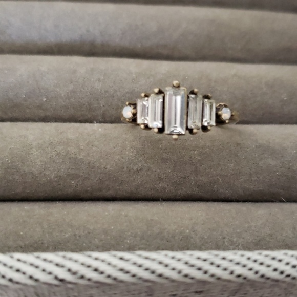 Chloe + Isabel Jewelry - Chloe +Isabel Crystal Baguette Ring, Size 7